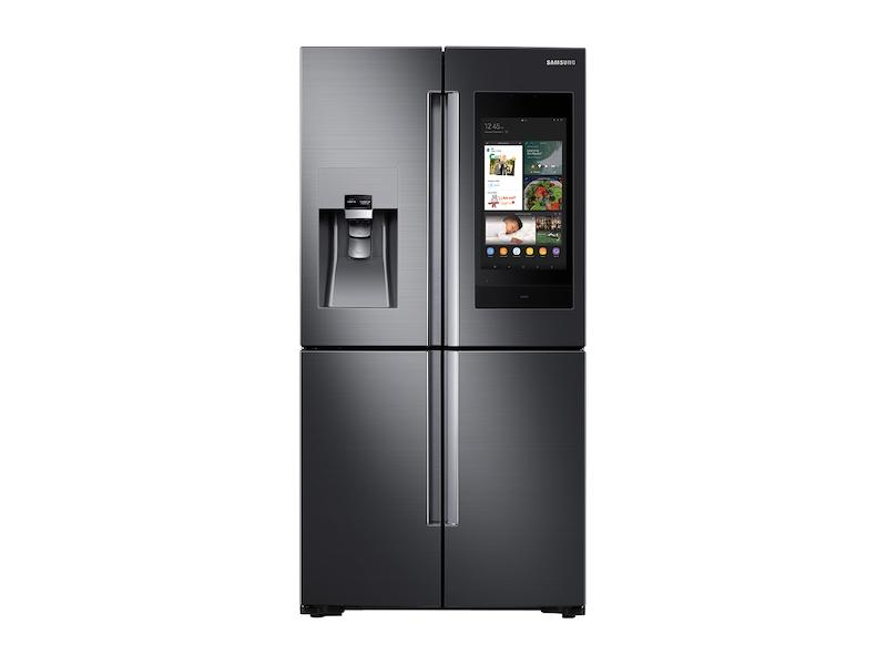 Samsung22 Cu. Ft. Family Hub™ Counter Depth 4-Door Flex™ Refrigerator In Black Stainless Steel