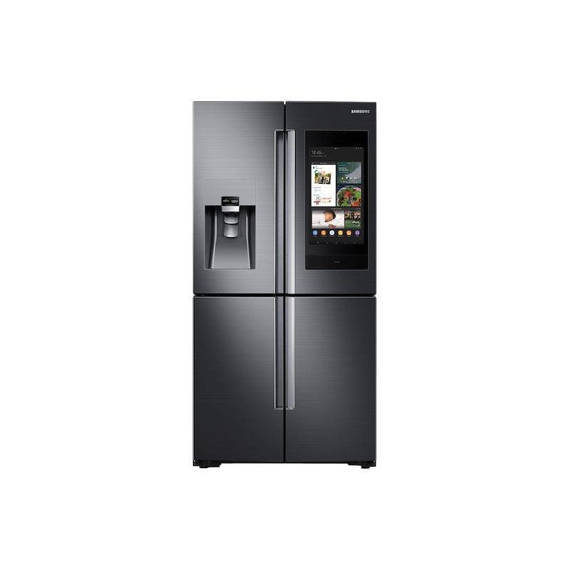 Samsung 22 cu. ft. Family Hub™ Counter Depth 4-Door Flex™ Refrigerator in Black Stainless Steel