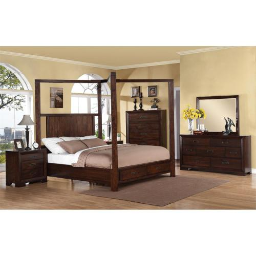 Riata - King/california King Poster Headboard - Warm Walnut Finish