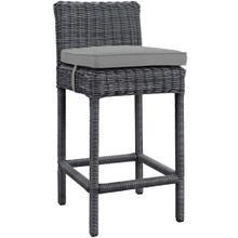 Summon Outdoor Patio Sunbrella® Bar Stool in Gray Gray