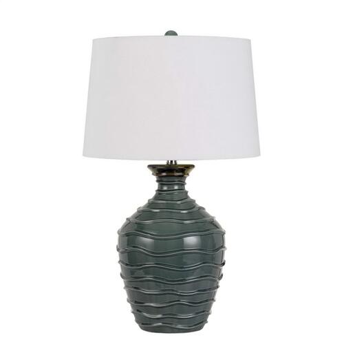 150W 3 Way Oristano Ceramic Table Lamp