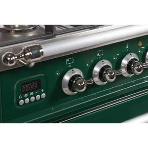 40 Inch Emerald Green Dual Fuel Natural Gas Freestanding Range