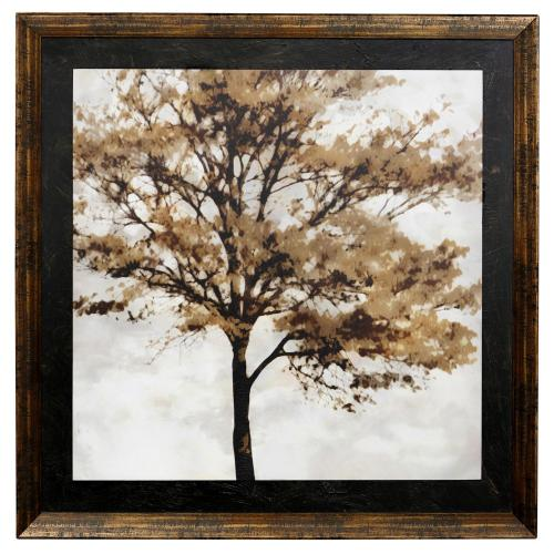 Style Craft - AUTUMN STRONG  46in w X 46in ht  Made in USA  Textured Framed Print