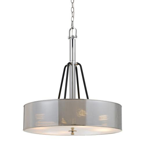 60W X 4 George 3 Light Pendant Fixture (Edison Bulbs Not included)