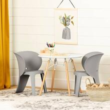 Kids Eiffel table and 2 elephant chairs set - Elephant Gray
