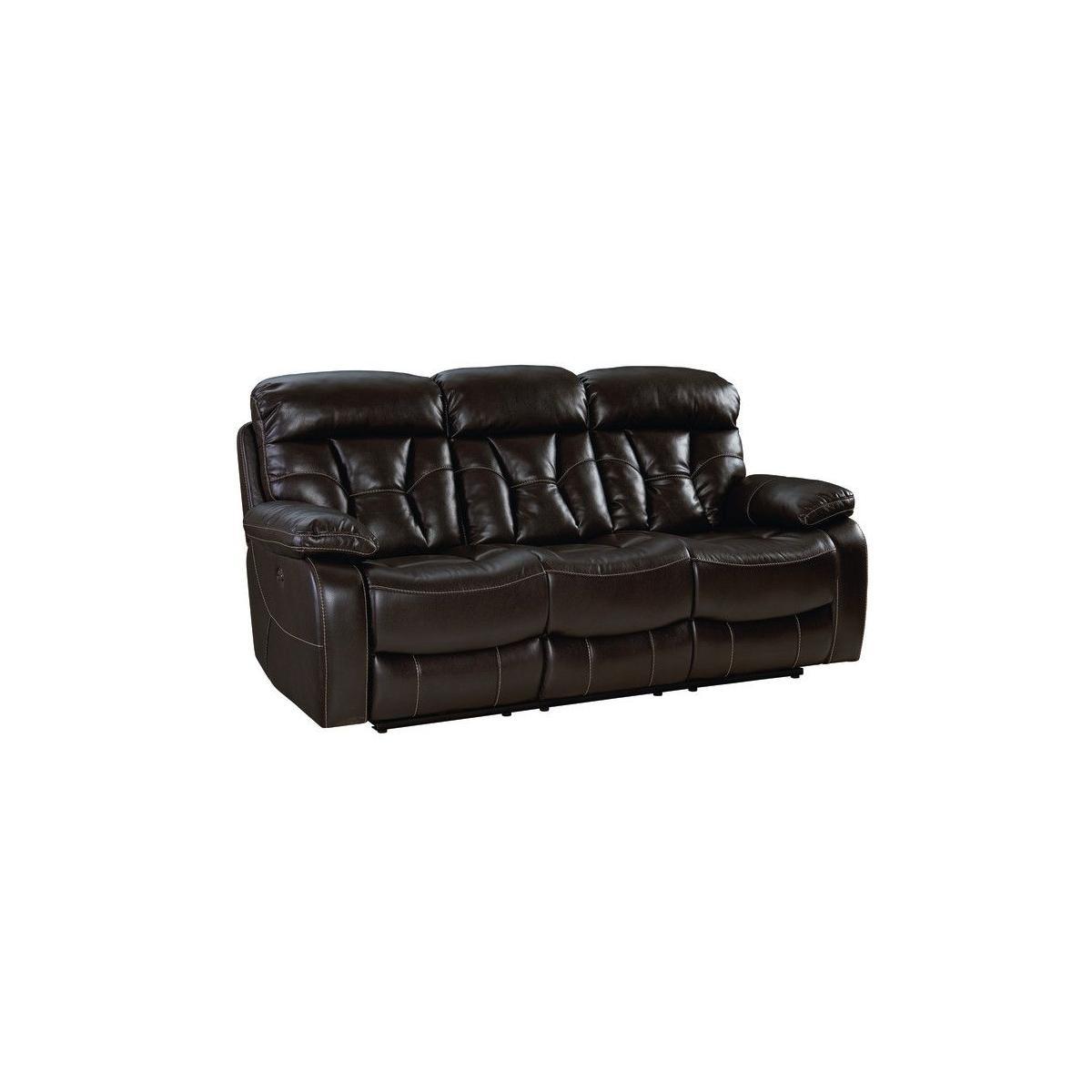 Peoria Manual Motion Dropdown Table Sofa, Brown