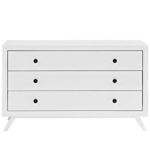 Tracy Wood Dresser in White