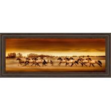 """Argentine Horses"" By Bobbie Goodrich Framed Print Wall Art"