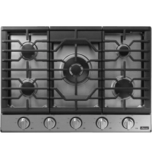 """Transitional 30"""" Gas Cooktop, Graphite Stainless Steel, Natural Gas/Liquid Propane"""