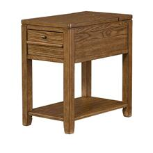 DOWNTOWN CHAIRSIDE TABLE-OAK