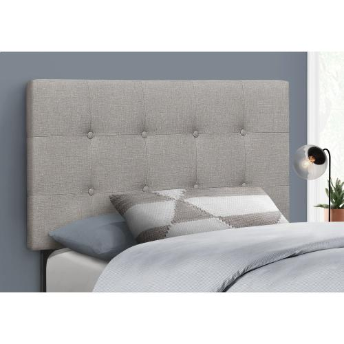 Gallery - BED - TWIN SIZE / GREY LINEN HEADBOARD ONLY