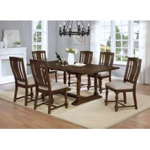7829 7PC Trestle Dining Room SET