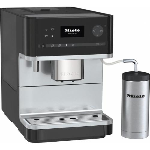 Miele - CM 6310 Countertop coffee machine with OneTouch for Two feature and integrated cup warmer for perfect coffee.