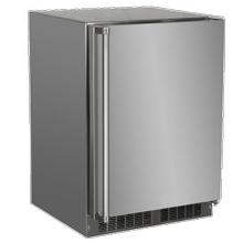 24-In Outdoor Built-In All Freezer with Door Style - Stainless Steel