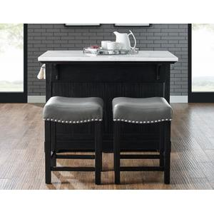 "Aspen Gray PU Counter Stool- 1/2"" Memory Foam"