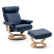 View Product - Stressless Orion Medium Recliner and Ottoman