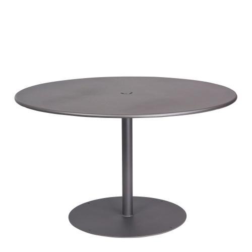 "Woodard Furniture - Solid Iron 48"" Round ADA Umbrella Table with Pedestal Base"