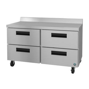 HoshizakiWF48A-D4, Freezer, Two Section Worktop, Stainless Drawers