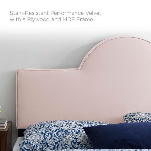 Dawn King/California King Performance Velvet Headboard in Pink