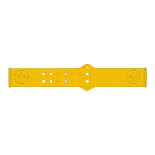 Pittsburgh Steelers Debossed Silicone Watch Band (22mm) Gold