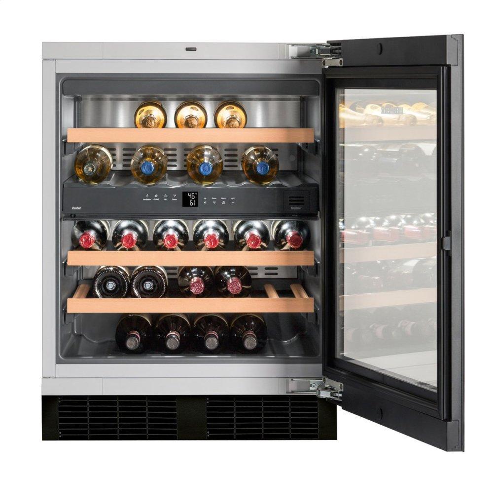 Built-under multi-temperature wine cabinet