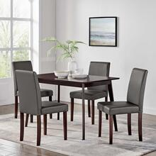 Prosper 5 Piece Dining Set in Cappuccino Gray