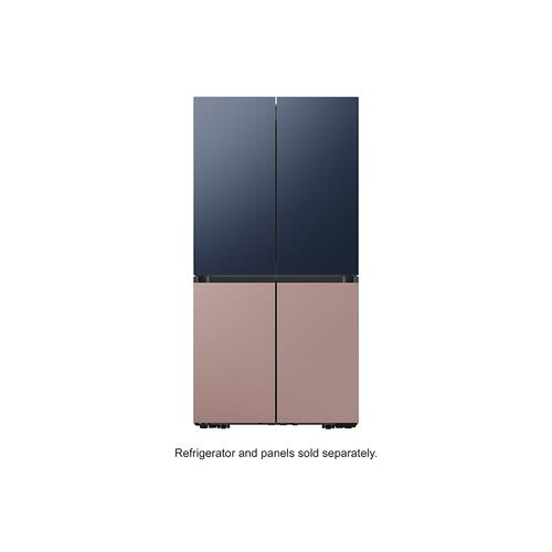 BESPOKE 4-Door Flex™ Refrigerator Panel in Champagne Rose Steel - Bottom Panel