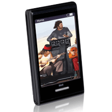 4GB MP3 and video player with 2.8-inch touchscreen display