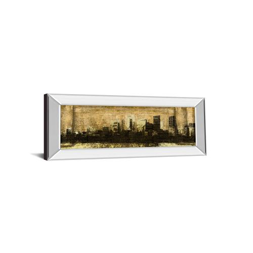 """Classy Art - """"Defined City I"""" By Sd Graphic Studio Mirror Framed Print Wall Art"""