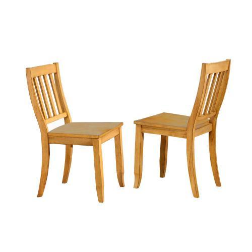 School House Dining Chairs - Light Oak (Set of 2)