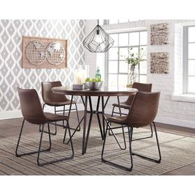 Centiar Dining Room Table & 4 Chairs Two-tone Brown