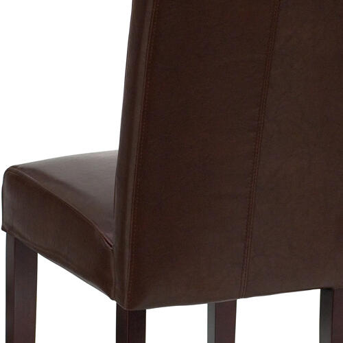 Gallery - Dark Brown LeatherSoft Parsons Chair