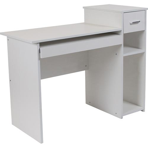 Flash Furniture - Highland Park White Computer Desk with Shelves and Drawer