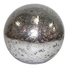 Textured Silver Glass Sphere