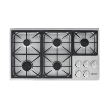 "36"" Dual Gas Cooktop, Liquid Propane/High Altitude"