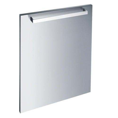 GFVi 609/72-1 Int. front panel: W x H, 24 x 28 in Clean Touch Steel with handle in Classic Design for integrated dishwashers.