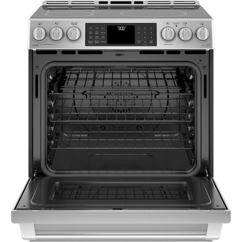 """DISPLAY MODEL GE Cafe™ Series 30"""" Slide-In Front Control Induction and Convection Range with Warming Drawer"""