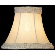"Candelabra Shade/bell With Lace - 3""tx6""bx5""sl"
