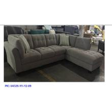 Emerald Home Ryder 2pc Sectional W/2 Accent Pillows Light Silver U4320-11-12-09-k
