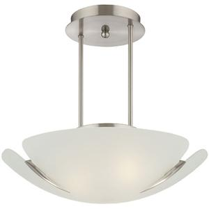 Semi-flush Mount, Ps/frost Glass Shade, E27 Type G 60wx3