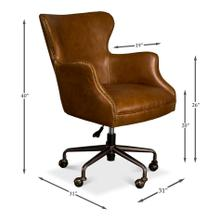 Andrew Jackson Desk Chair, Cuba Brown