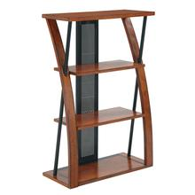 View Product - Aurora Bookcase With Powder-coated Black Accents