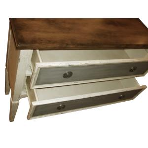 Accentrics Home - Three Tone Distressed Hall Drawer Chest