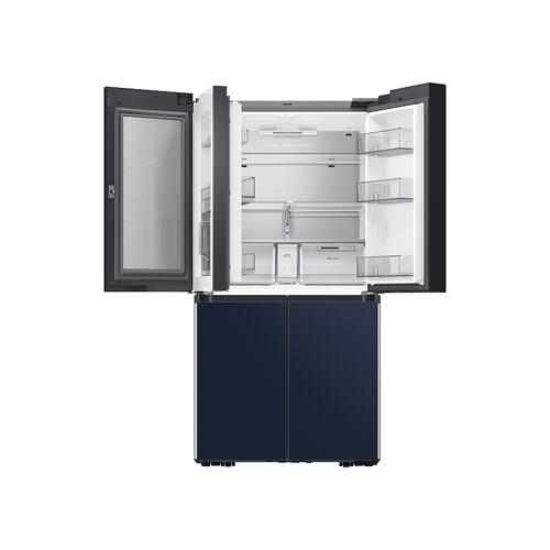 29 cu. ft. Smart BESPOKE 4-Door Flex™ Refrigerator with Customizable Panel Colors in Grey Glass
