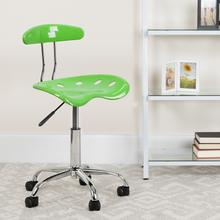 View Product - Vibrant Apple Green and Chrome Swivel Task Office Chair with Tractor Seat