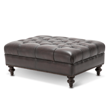 Kensington Charterhse Leather LargeFtStl in Merlot Mahogany