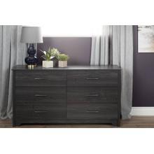 6-Drawer Double Dresser - Gray Oak