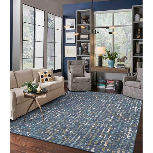 "Expressions Wellspring Admiral Blue 2' 4""x7' 10"" Runner"