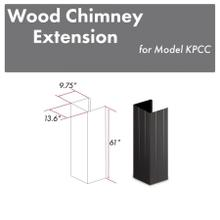 """View Product - ZLINE 61"""" Wooden Chimney Extension for Ceilings up to 12 ft. (KPCC-E)"""