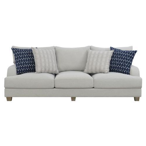 Laney Sofa W/ 4 Accent Pillows Gray